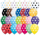 Qualatex Big Polka Dot Inverted Blue Latex Balloons