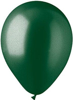 Metallic Hunter Green Latex Balloons