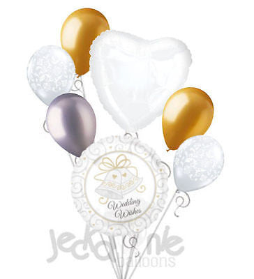 Wedding Wishes Bells Balloon Bouquet