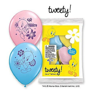 Looney Tunes Tweety Bird Latex Balloons