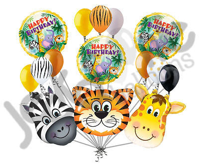 Jungle Fever Happy Birthday Balloon Bouquet