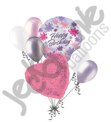 Dazzeloon Flowers Happy Birthday Balloon Bouquet