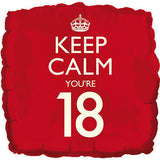 Red Keep Calm You're 18 Balloon Bouquet