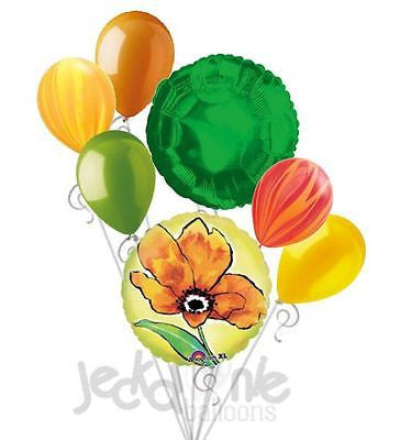 Painted Yellow Flower Balloon Bouquet