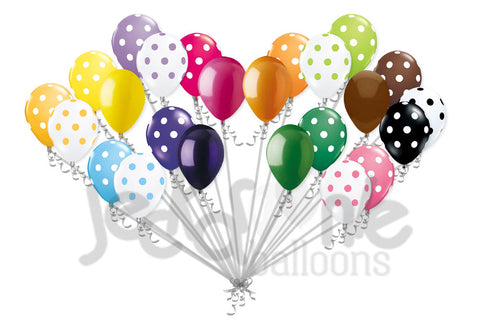 Bright & Colorful Polka Dot Latex Balloons