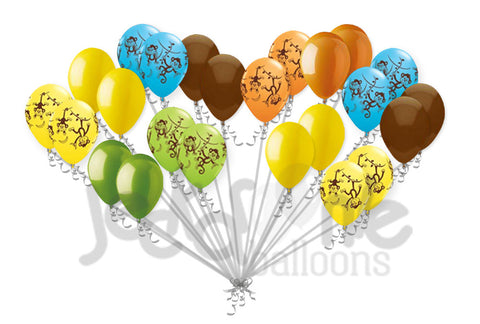 Colorful Mischevious Monkey Latex Balloons