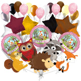 Woodland Creatures It's a Baby Girl Animals Balloon Bouquet
