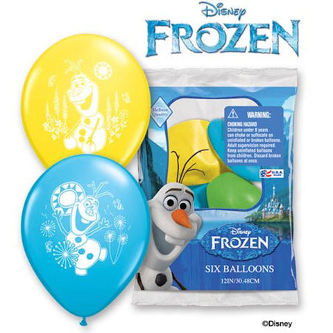 Disney Frozen Fever Olaf Summer Latex Balloons