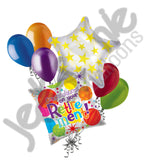 Colorful Dots Congrats! Retirement Balloon Bouquet