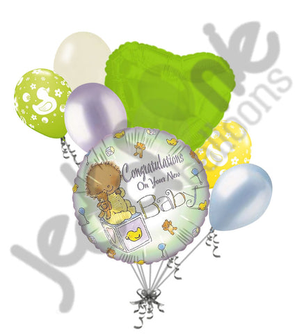 congratulations on your new baby balloon bouquet