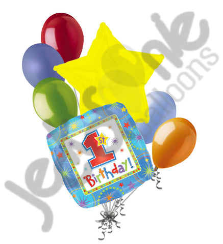 Blue Onederful 1st Birthday Balloon Bouquet