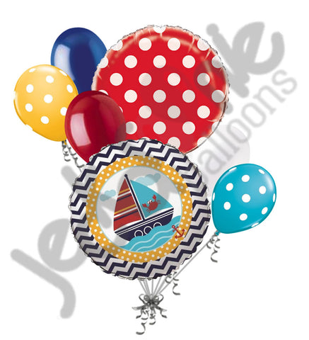 Ahoy Matey Baby Boy Balloon Bouquet