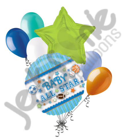All Star Sports Baby Boy Balloon Bouquet