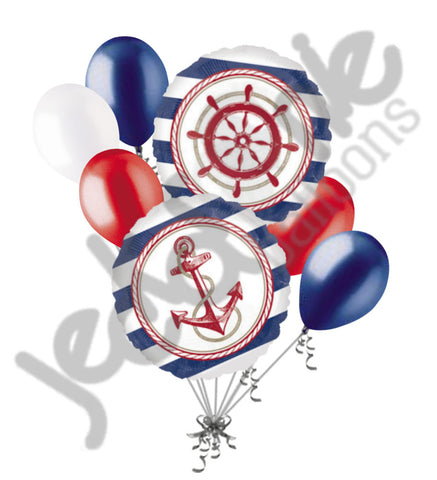 Anchors Aweigh Nautical Balloon Bouquet