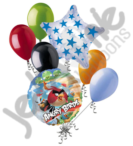 Angry Birds Group Balloon Bouquet
