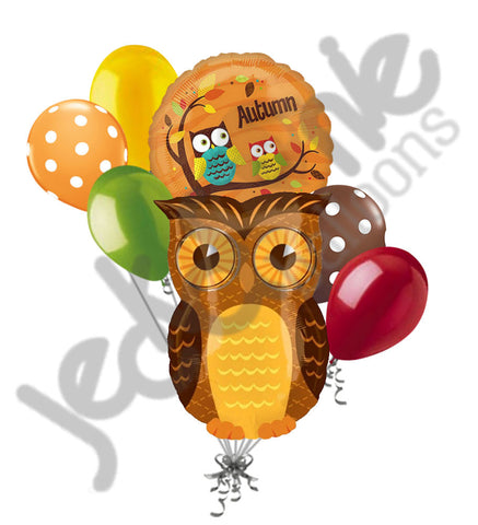 Autumn Owl Balloon Bouquet