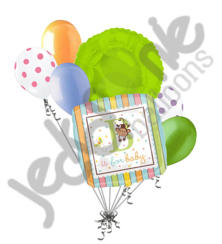 B is for Baby Monkey Gender Neutral Balloon Bouquet