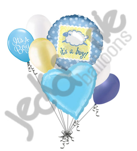 Baa Baa Lamb It's a Baby Boy Balloon Bouquet