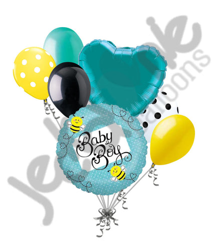 Baby Boy Buzzy Bee Balloon Bouquet
