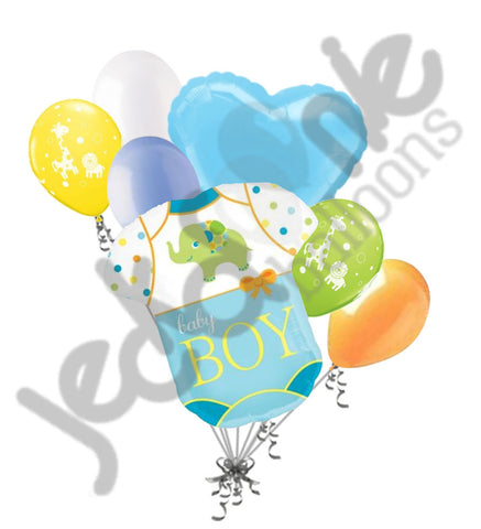 Baby Boy Elephant Onesie Balloon Bouquet