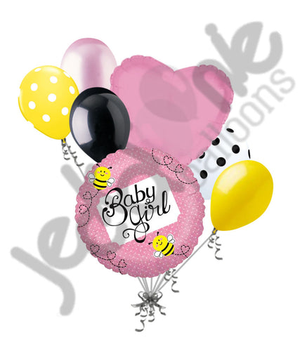 Baby Girl Buzzy Bee Balloon Bouquet