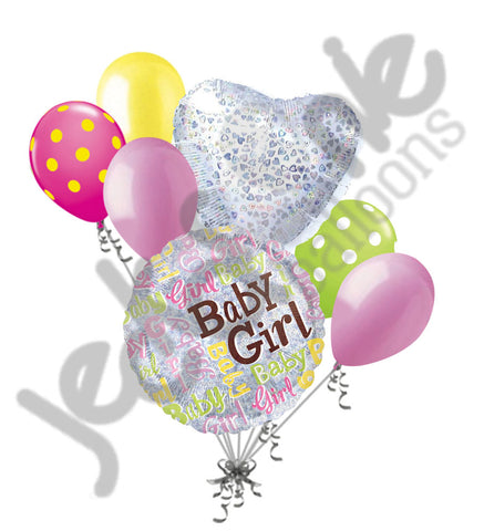Baby Girl Colorful Sparkles Balloon Bouquet