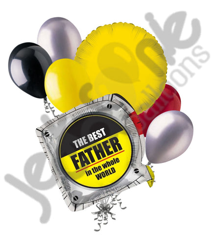 Best Father in the World Measuring Tape Balloon Bouquet