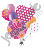 Big Sister Flowers Balloon Bouquet