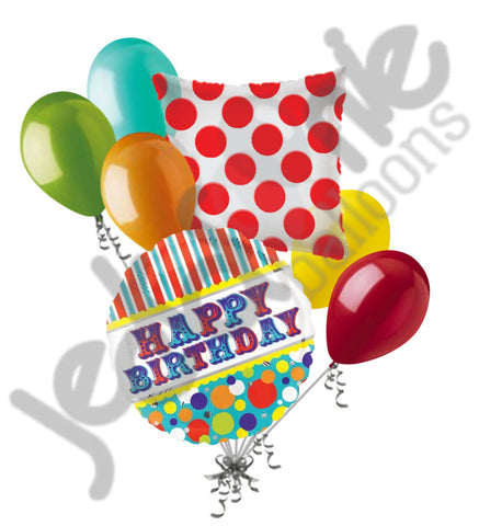 Big Top Circus Happy Birthday Balloon Bouquet