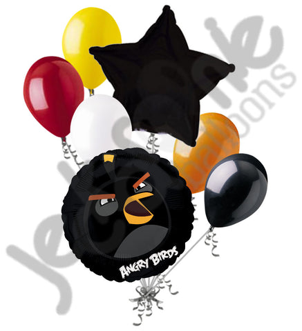 Angry Birds Black Bomb Balloon Bouquet
