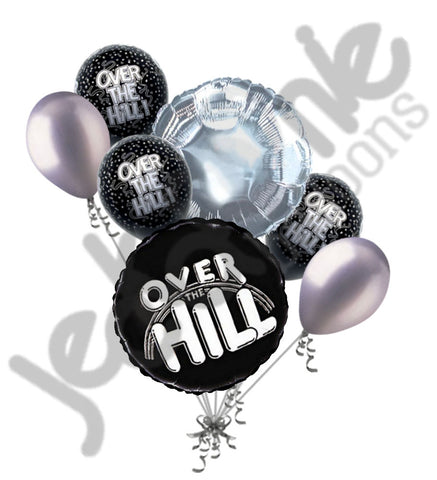 Black Over the Hill Balloon Bouquet