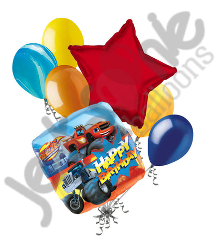 Blaze & the Monster Machines Happy Birthday Balloon Bouquet