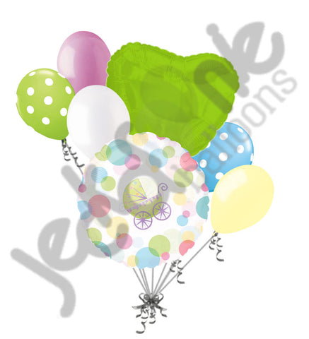 Bouncing Buggy Baby Carriage Balloon Bouquet