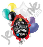 Chalk Board Frame Happy Birthday Balloon Bouquet