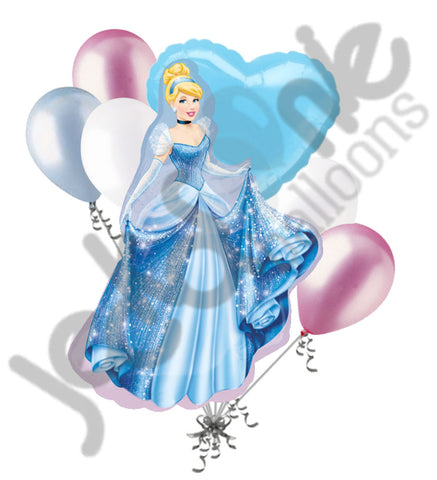 Disney Princess Cinderella Sparkles Balloon Bouquet