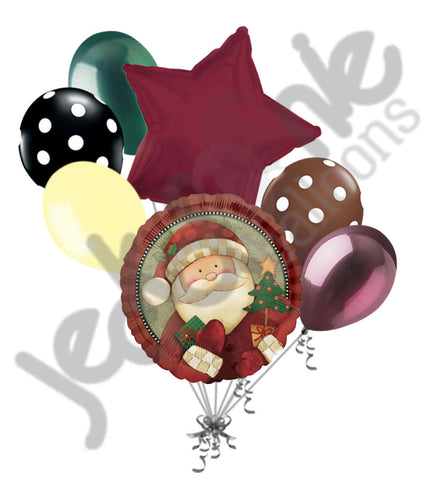Cozy Santa Claus Merry Christmas Balloon Bouquet