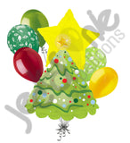 Decorated Tree Merry Christmas Balloon Bouquet
