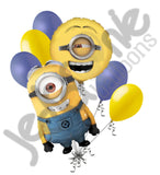 Despicable Me Minion Stuart Balloon Bouquet
