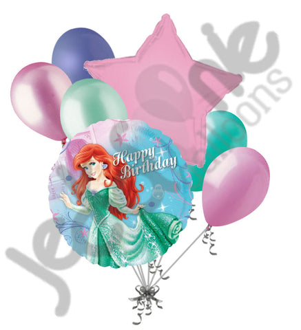 Disney Princess Ariel Happy Birthday Little Mermaid Dress Balloon Bouquet