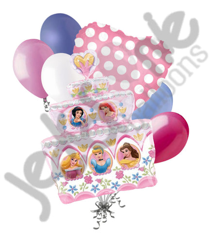 Disney Princess Cake Balloon Bouquet