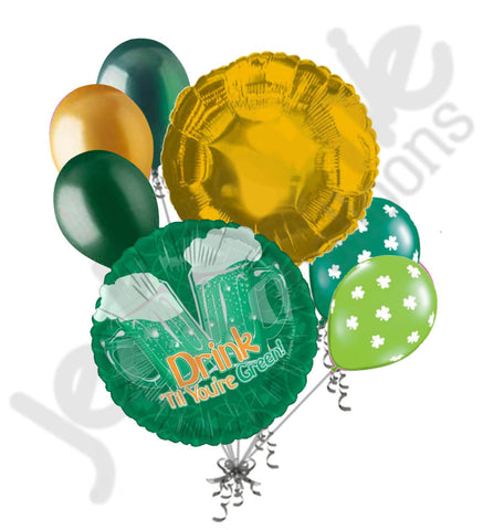 Drink Til You're Green St. Patrick's Day Balloon Bouquet