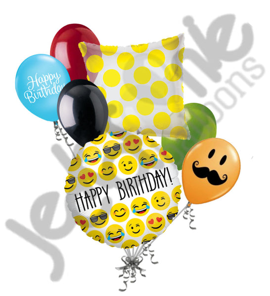 Emoji Happy Birthday Balloon Bouquet Jeckaroonie Balloons