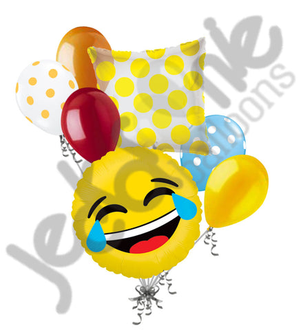 Emoji LOL Tears of Joy Balloon Bouquet