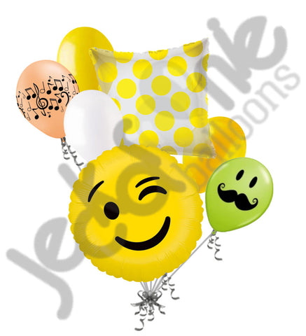 Emoji Wink Balloon Bouquet
