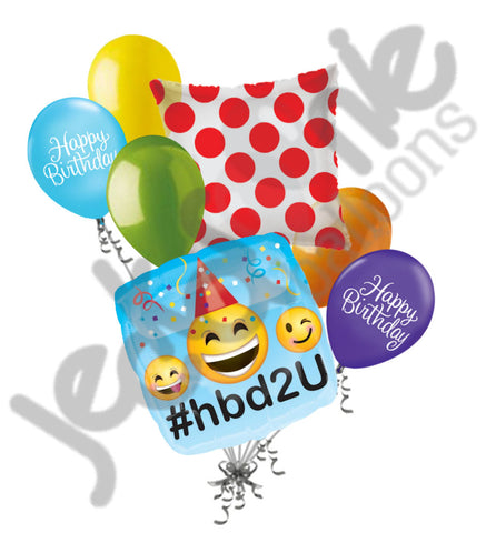 Emoji #hbd2u Happy Birthday Balloon Bouquet