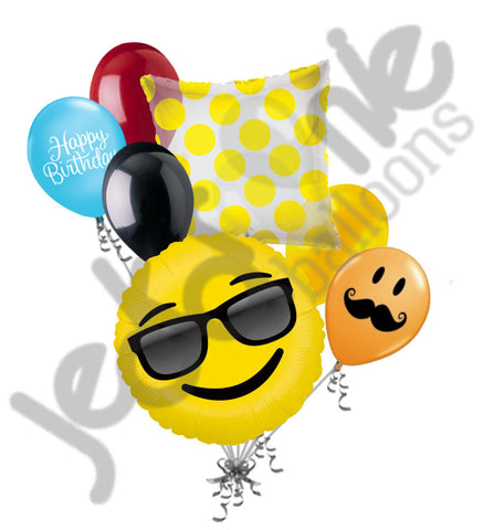 Emoji Sunglasses Balloon Bouquet