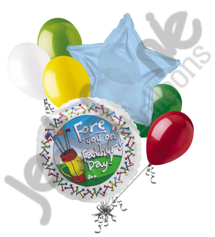 Fore You on Father's Day Balloon Bouquet