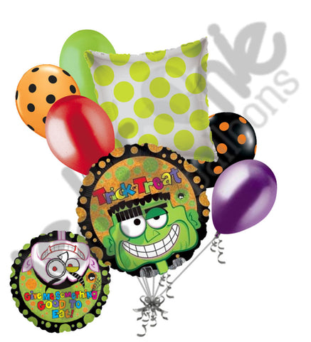 Frankenstein Vampire Trick or Treat Halloween Balloon Bouquet