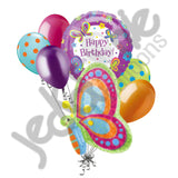 Groovy Butterfly Happy Birthday Balloon Bouquet