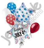 Happy 4th of July Patriotic Balloon Bouquet